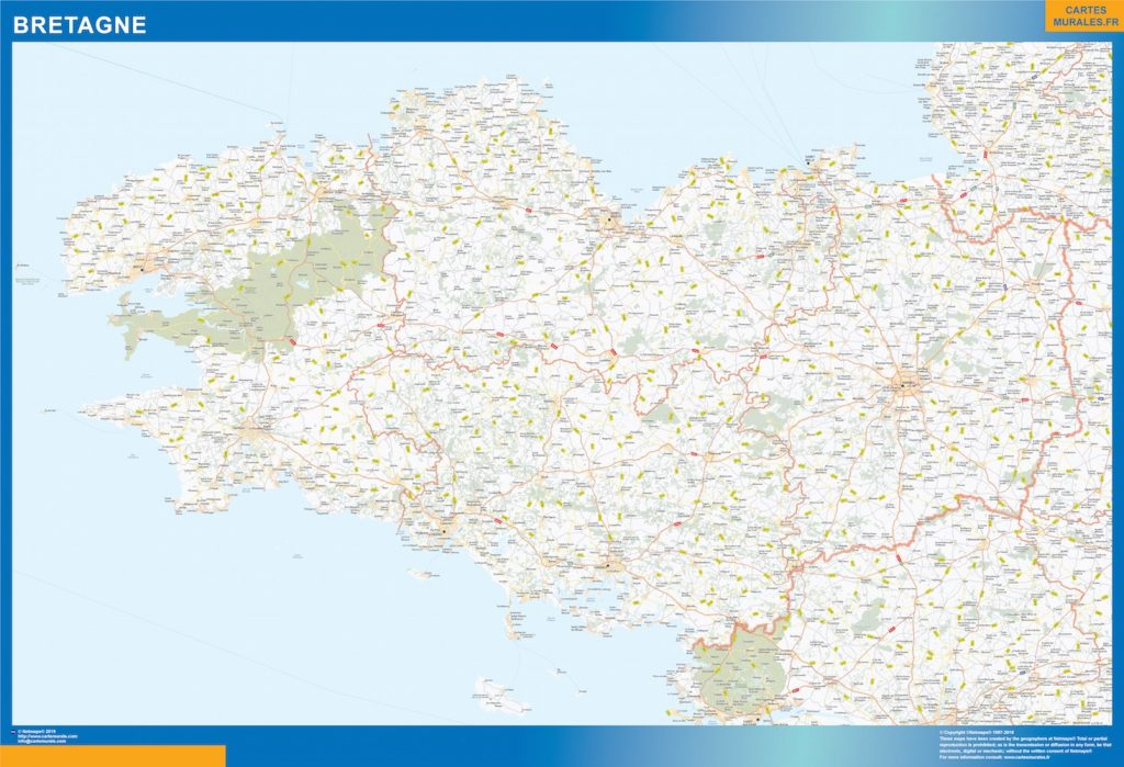 Mapa Region Bretagne
