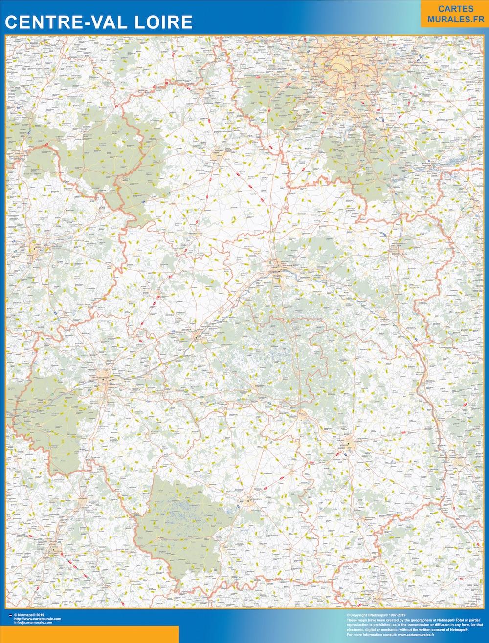 Mapa Region Centre Val Loire
