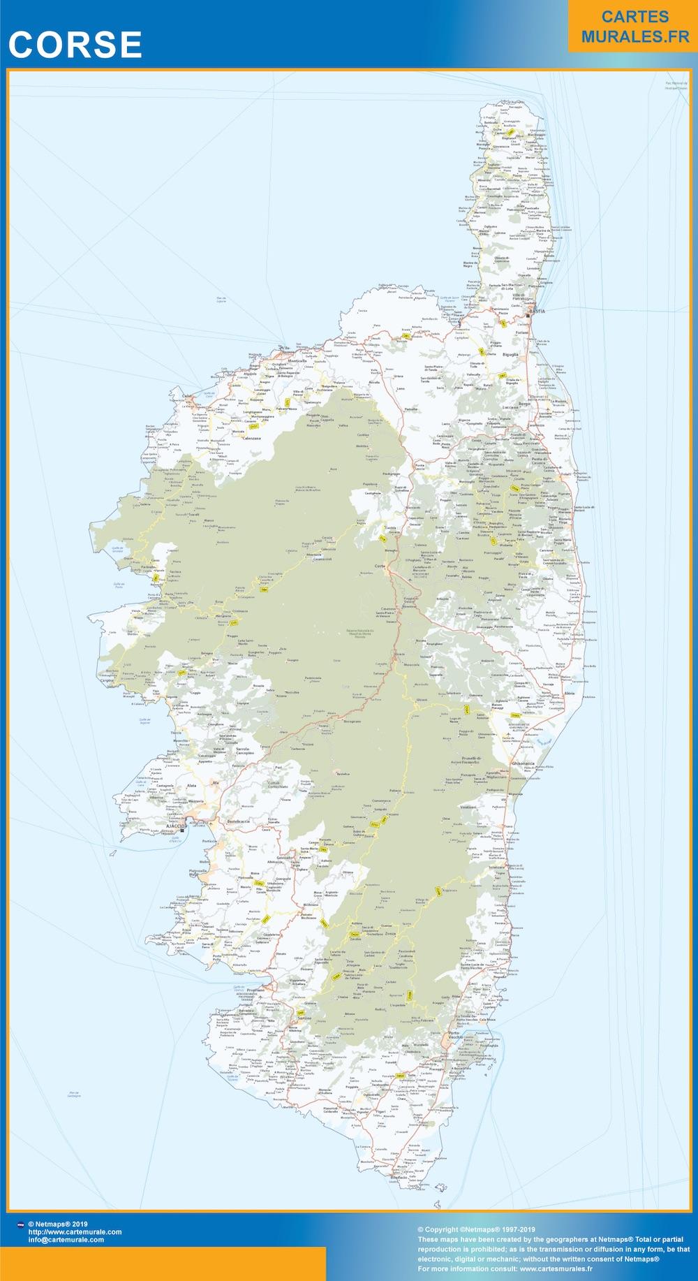 Mapa Region Corse