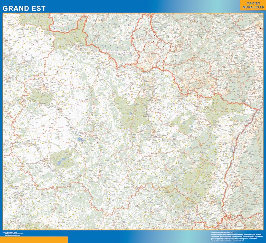 Mapa Region Grand Est
