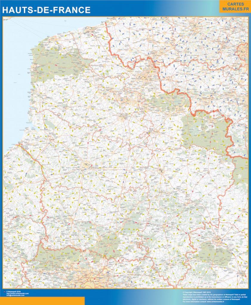 Mapa Region Hauts de France