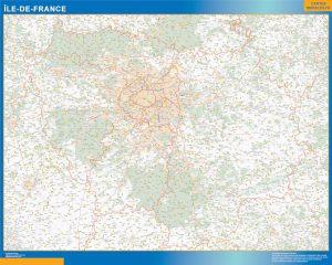 Mapa Region Ile de France