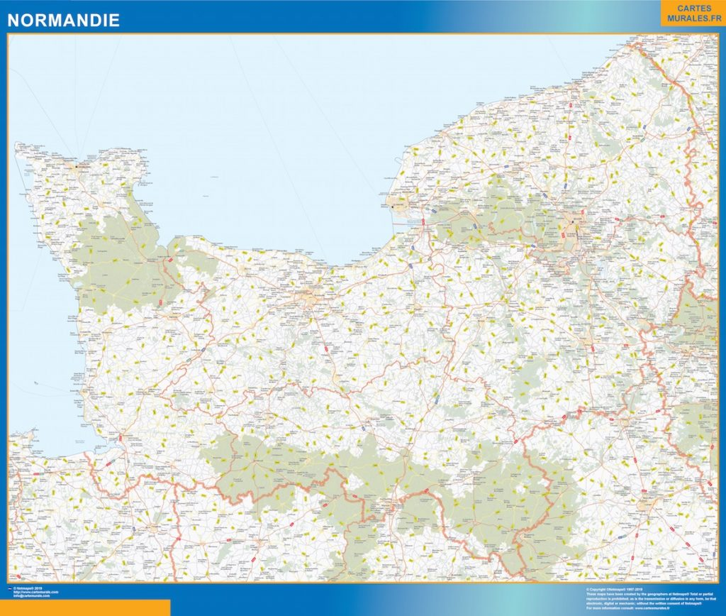Mapa Region Normandie