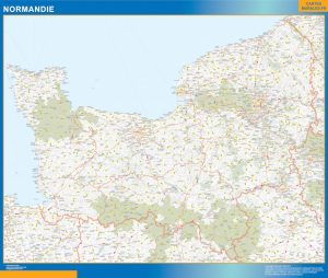 Mapa Region Normandie