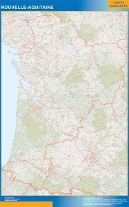 Mapa Region Nouvelle Aquitaine
