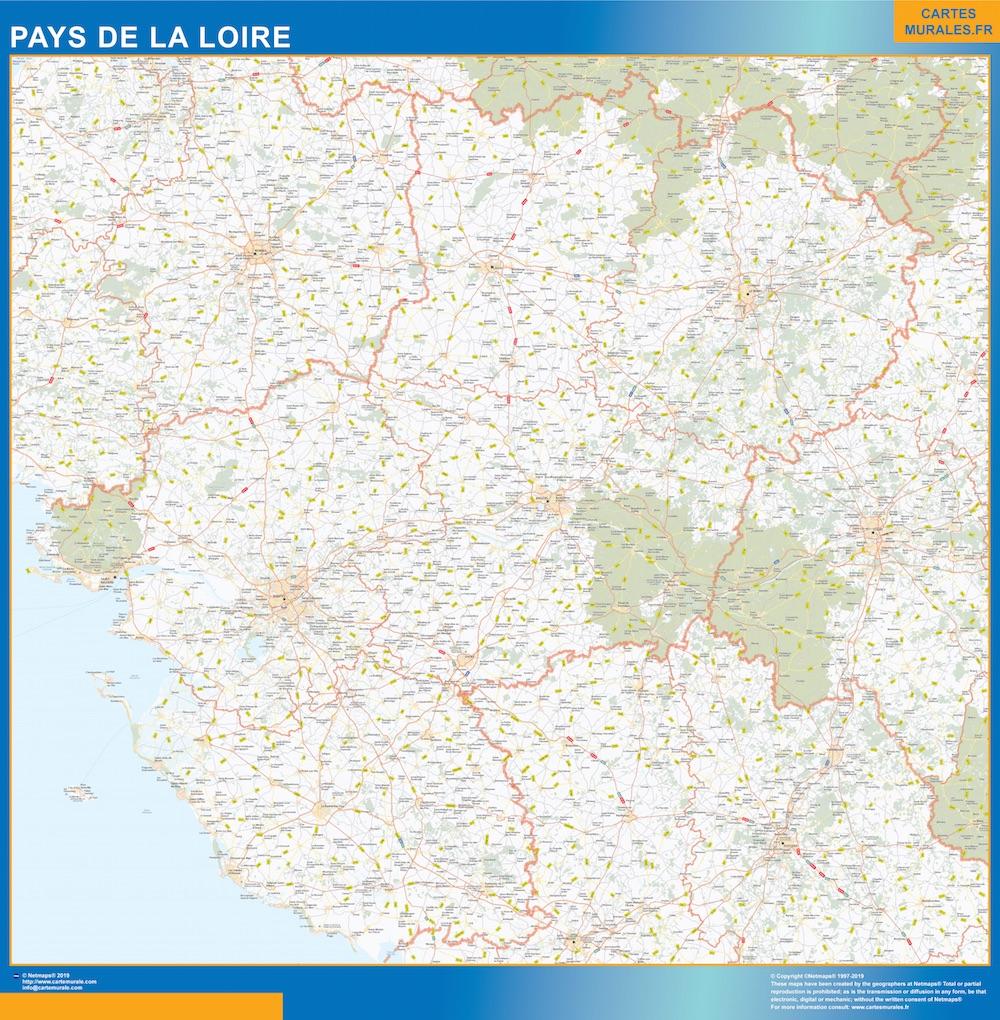Mapa Region Pays de la Loire