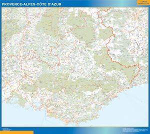 Mapa Region Provence-alpes cote azur