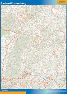 Mapa Baden-Wurtemberg Alemania