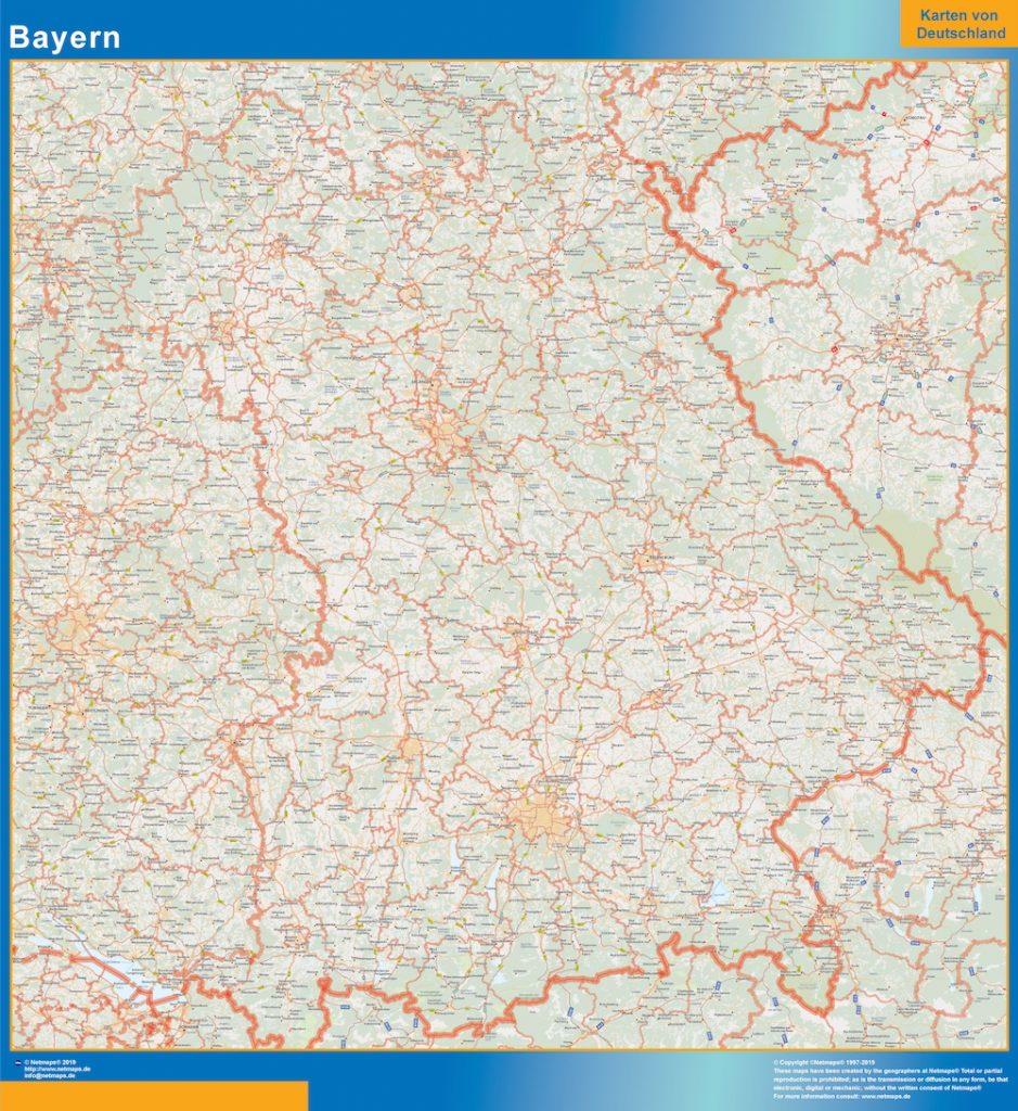 Baviera Lander mapa