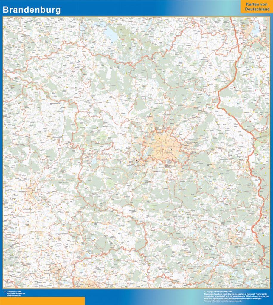 Brandenburgo Lander mapa