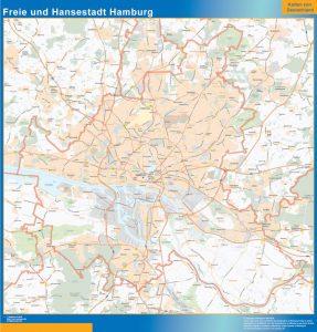 Mapa Ciudad libre y hanseática de Hamburgo