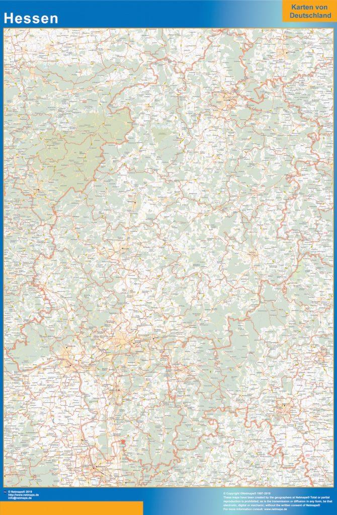 Hessen Lander mapa