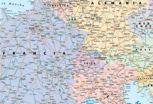 Mapa Europa zoom