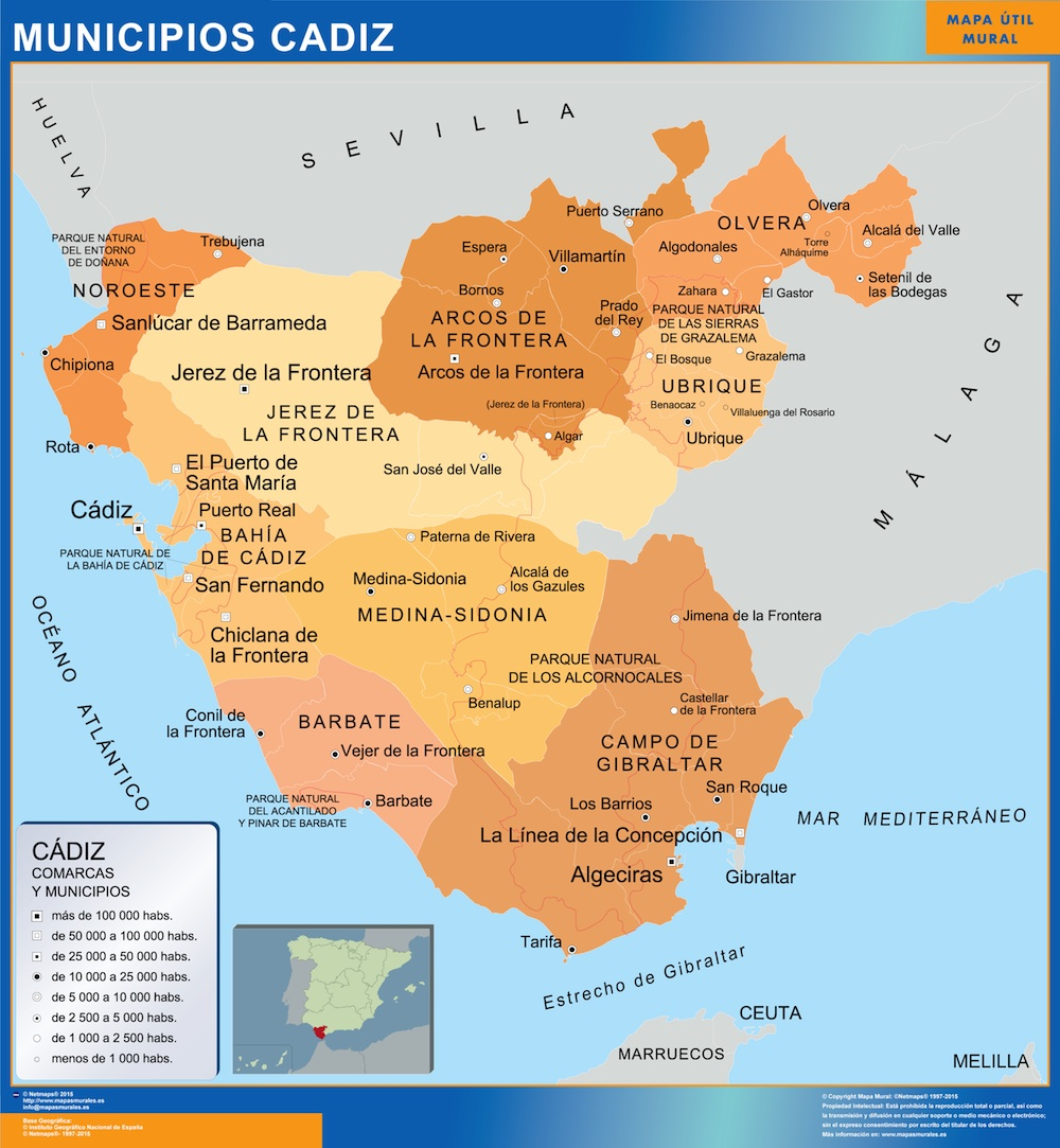 Pueblos De Cadiz Plano De Cadiz Cadiz Informacion