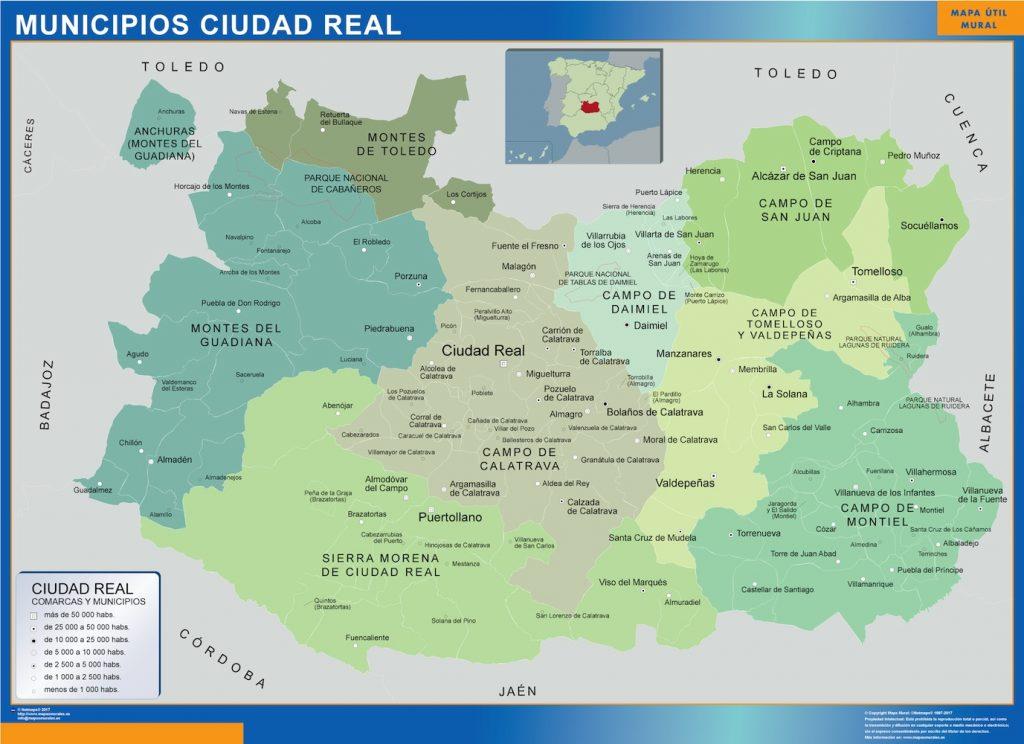 Mapa municipios provincia Ciudad Real