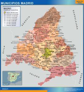 Mapa municipios provincia Madrid