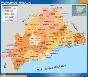 Mapa municipios provincia Malaga