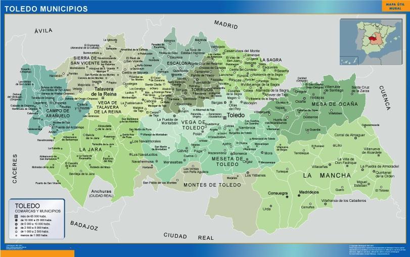 Mapa municipios provincia Toledo