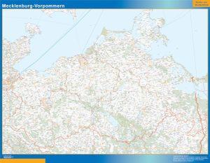 Mecklenburg-Vorpommern Lander mapa