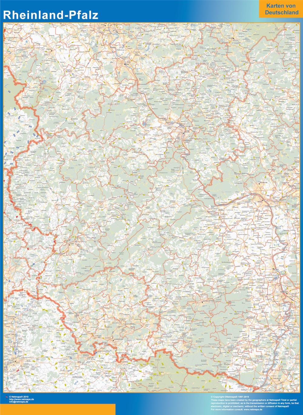 Renania-Palatinado Lander mapa