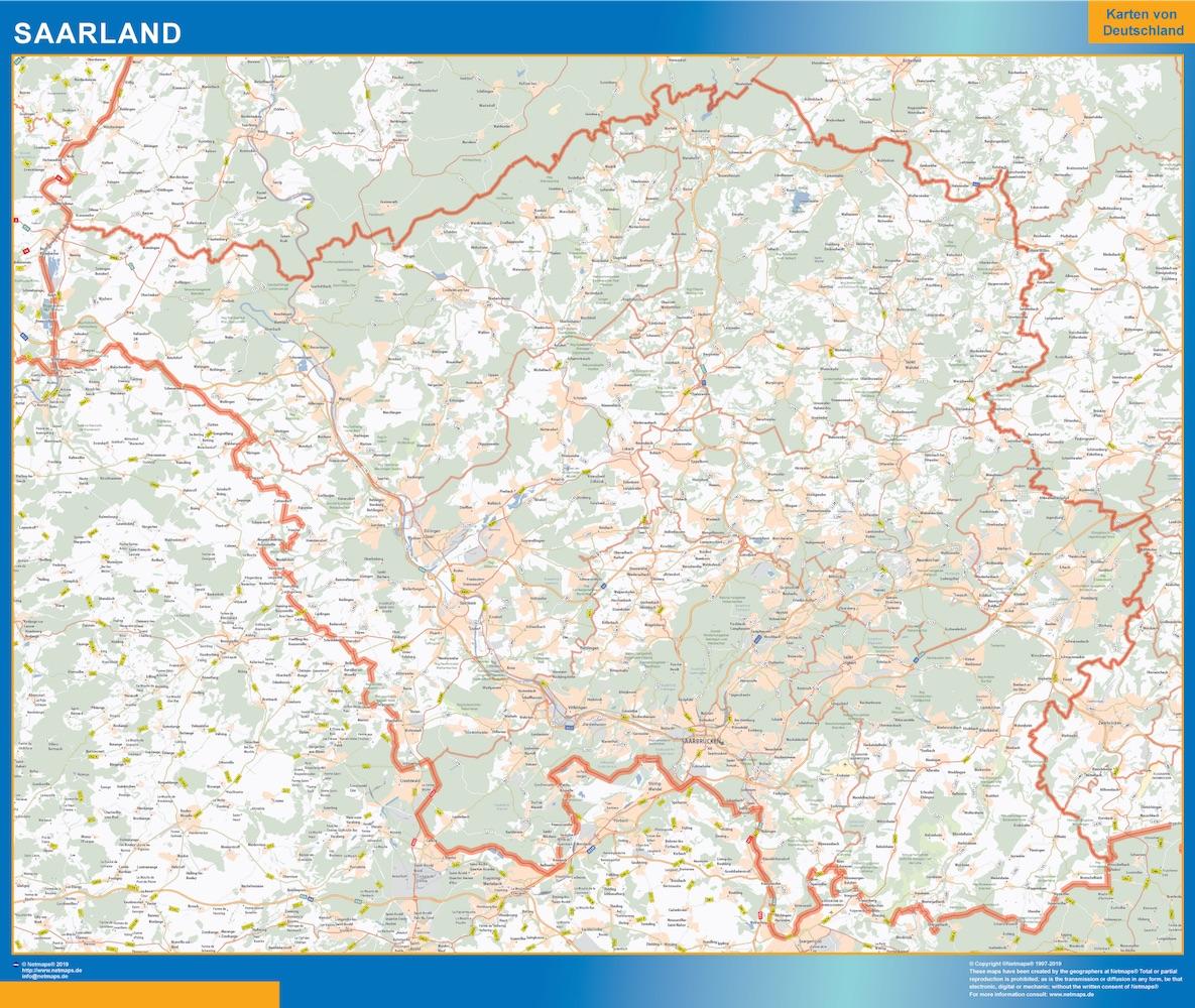 Sarre Lander mapa