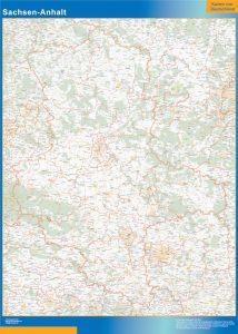 Sajonia-Anhalt Lander mapa