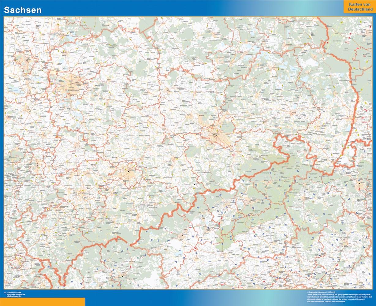 Sajonia Lander mapa