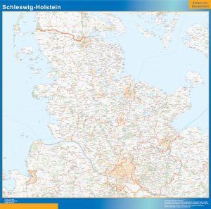 Schleswig-Holstein Lander mapa