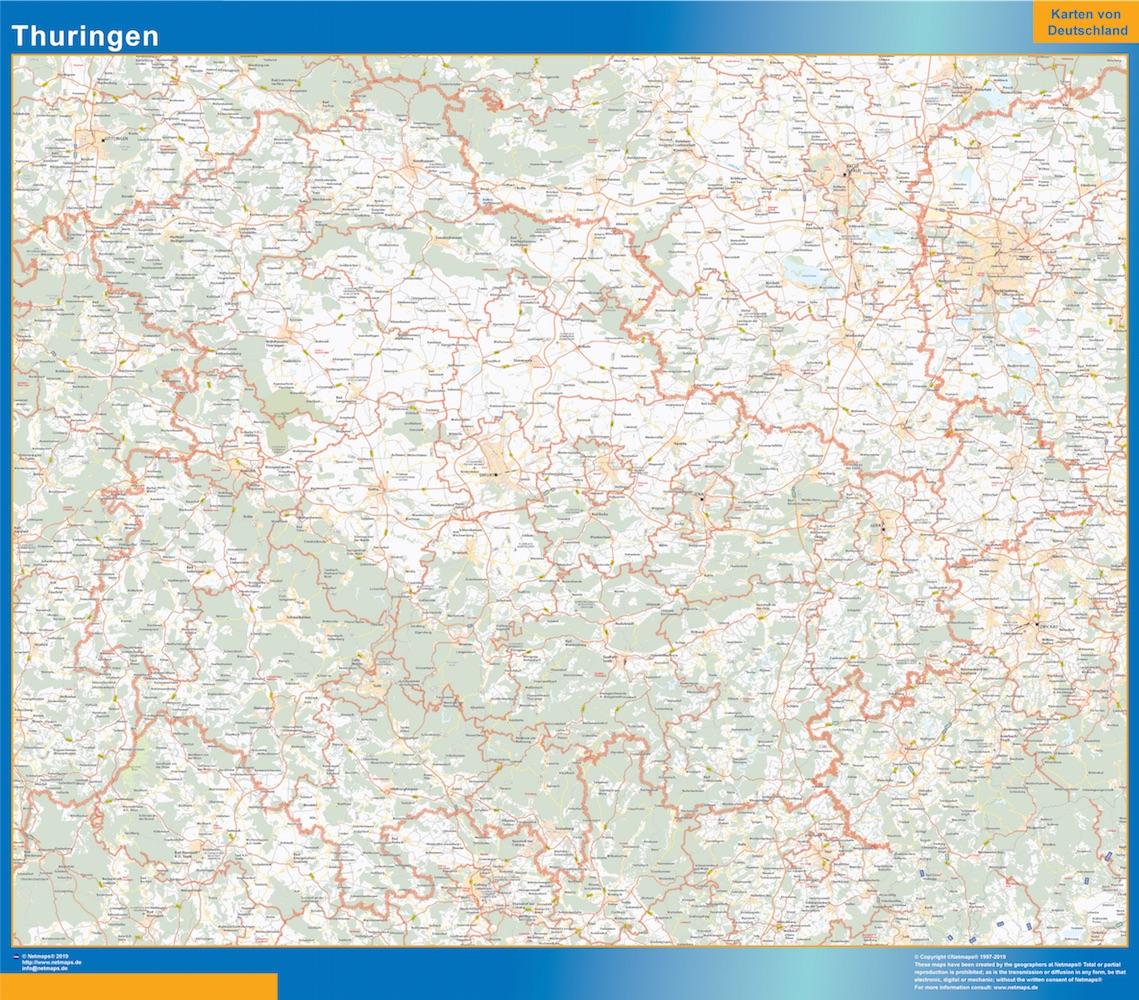 Turingia Lander mapa