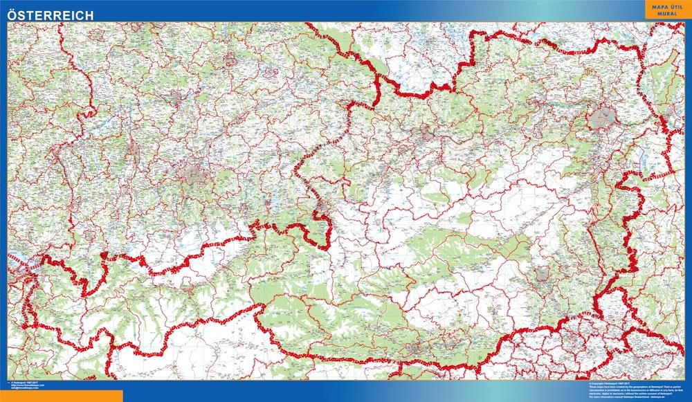 Mapa Austria