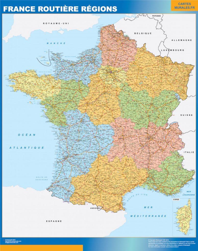 Mapa Francia carreteras regiones