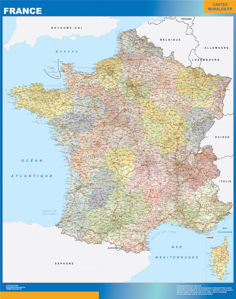 Mapa Francia politico