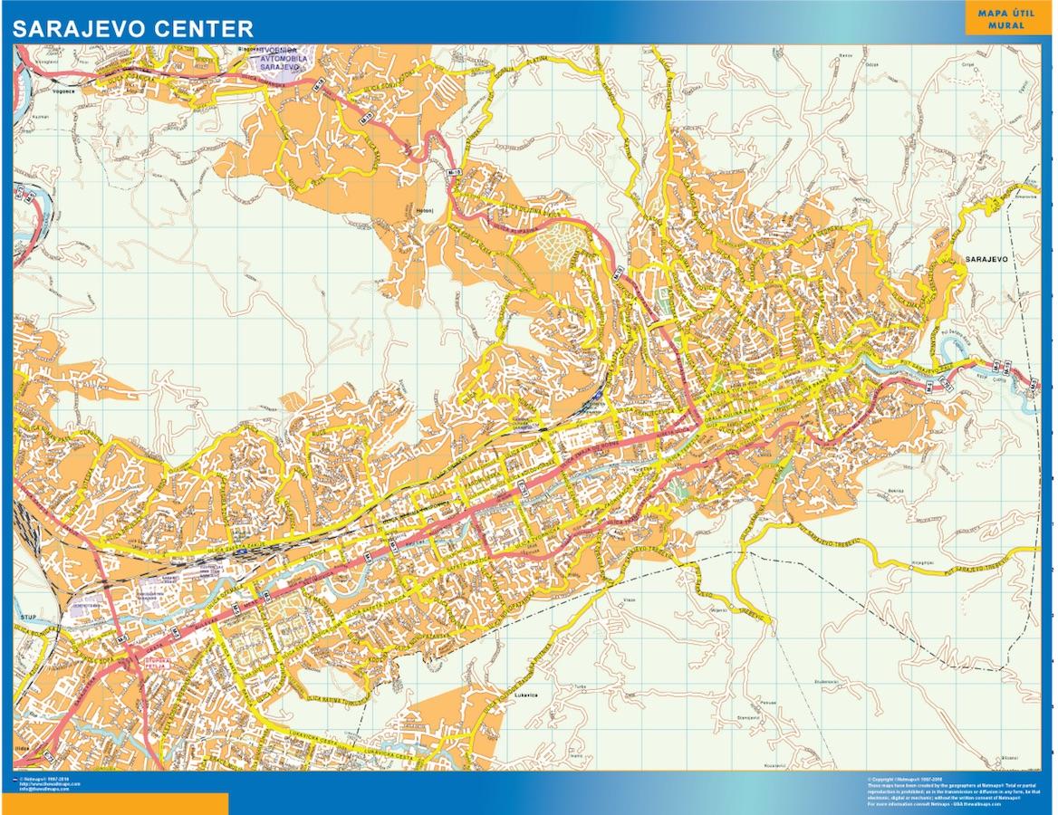 Mapa Sarajevo Centro Mapas Murales De Espana Y El Mundo