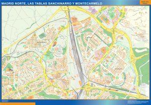 Mapa Madrid Norte