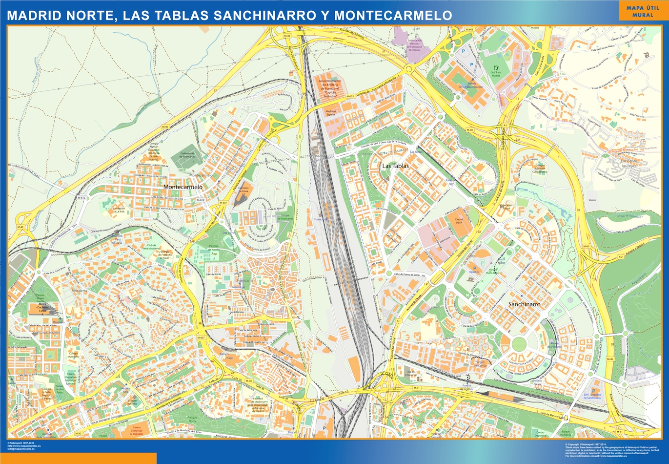 Mapa Madrid Norte