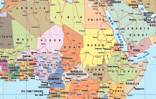 Mapa mundo zoom